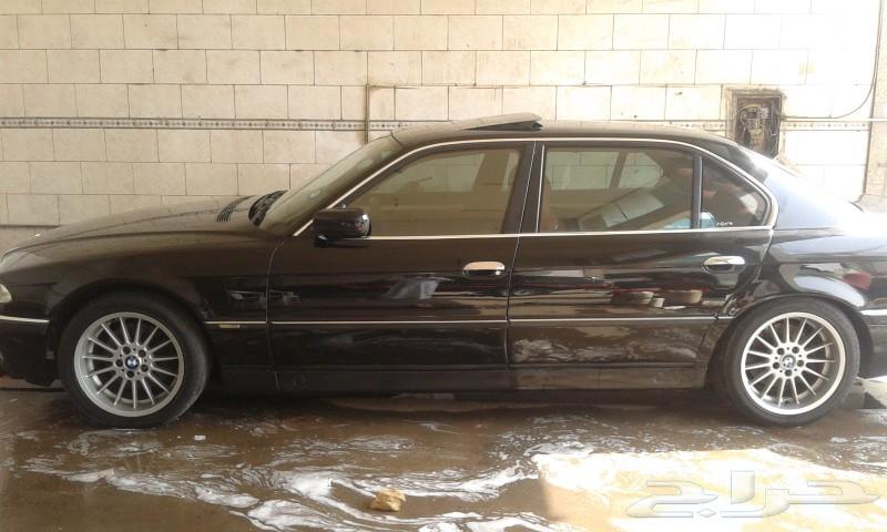 BMW 740 اسود موديل 98 جدة مفحوص ومجدد